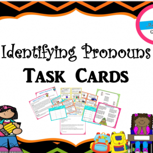 Identifying Pronouns Task cards